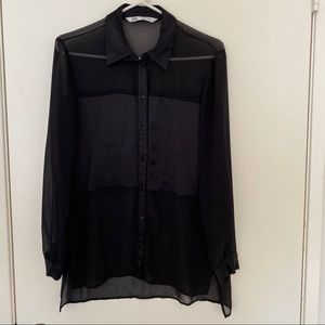Chiffon black blouse from Zara.